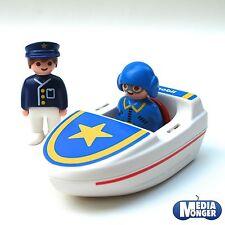 playmobil® First-Smile & 1.2.3® Motorboot inkl. Pilot- und Polizeifigur