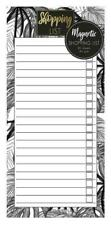 Magnetic Meal Planner & Tear Off Shopping List Note Pad  Tropical Design 80 s