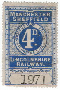 (I.B) Manchester, Sheffield & Lincolnshire Railway : Newspaper Parcel 4d