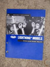 2005 Buell Lightning Motorcycle Parts Catalog Harley LOTS MORE IN OUR STORE  V