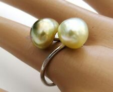 Anillos de joyería oro perla