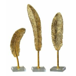 Uttermost Feathers Gold Sculpture Set of 3 - 20079
