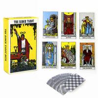 78Pcs Tarot Cards Waite Tarot Deck English Full Version Divination Tablecloth