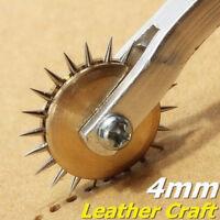 4mm Overstitch Rad Leder Nähen Stitch Abstand Papier Handwerk Werkzeug Roulette