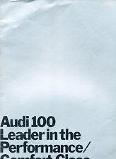 1971 Audi 100 24-page Original Car Sales Brochure Catalog - UK 100LS