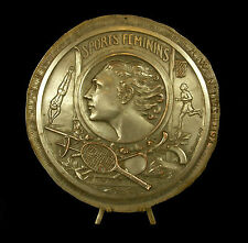 Médaille Les woman Sports Féminins natation tennis ski basket 18cm Bruneau Medal