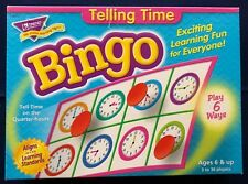 Bingo Telling Time Educational Game  Ages 6 Yrs & Up ~ Teacher Resource
