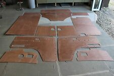 VW T2 Door Cards 13 panel trim panel set , Late Bay 72 -79 in exterior plywood