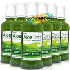 6x Aloe Dent Aloe Vera alcohol fluoruro libre enjuagues bucales 250ml