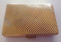 ESTÉE LAUDER Vintage Compact Gold Wave Pattern & Foundation New York, USA