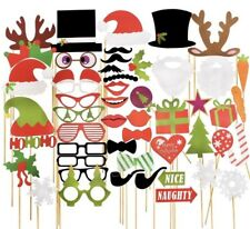 50PC DIY Christmas Photo Booth Props, Christmas, Photo Booth Props, Xmas