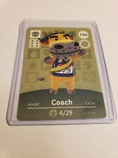 Coach # 126 Animal Crossing Amiibo Card Horizons Series 2 MINT NEVER SCANNED!