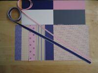 """Stampin Up! LAP OF LUXURY 6 X 6"""" Designer Paper Card Kit Ribbon RARE"""