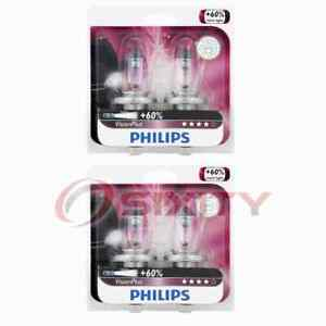 2 pc Philips High Low Beam Headlight Bulbs for Daewoo Nubira 1999-2002 xk