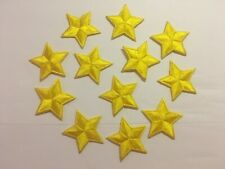"""Iron On Yellow Star Embroidered Appliques 1 3/8"""" (35mm)  10 pieces per package"""