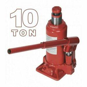 Crick Cric Idraulico Per Auto A Bottiglia Sollevatore Martinetto 10 Tonnellate