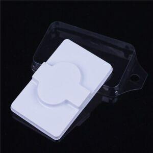 10 Sets White Transparent Cover Plastic Reusable Soft False Eyelash Storage Box