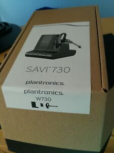 Plantronics Savi W730 Earset-Mono-Silver-Wireless-DECT-393.7 ft-Over-The-Ear-mnt