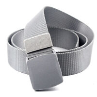 Men Wearable Training Waist Belt Waistband Plastic Buckle Casual Sport Belt Hot!