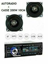 KIT AUTORADIO STEREO BLUETOOTH MP3 USB AUX 180W + COPPIA CASSE AUTO 200 10CM ---