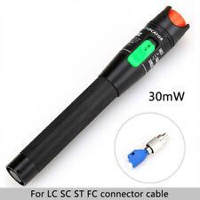 30MW Metal Visual Fault Locator Fibra Óptica Laser Rojo Herramienta De Prueba Probador De Cable