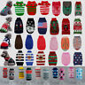 Dog Christmas Sweater Elk Knitted Small Large Puppy Cat Clothes Xmas Jumper Coat