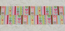"1 x yard Stripes Hearts Crowns Flower 1"" Grosgrain Ribbon Craft cake Sewing Hair"