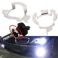 2Pcs H7 Socket LED Headlight Lamp Bulb Stainless Steel Adapter Retainer Ho EDZY