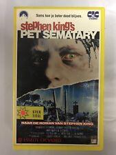 Pet Sematary Ex-Rental Vintage Big Box VHS Tape English dutch subs Horror