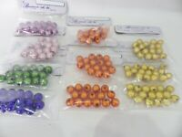 JOB LOT: 150 beads Acrylic 8mm Round Illusion Beads Set of 6 colours SET A