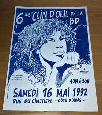 Affiche festival BD de 1992 JC SERVAIS TBE