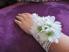 80's Madonna Bridal Chantilly Lace Cuff Bracelet Wedding