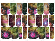 24 FULL COVER Water Slide Nail Decals * NEVERLAND GALAXY * 12 SIZES  NAIL WRAP