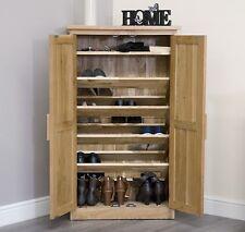 Arden solid oak hallway furniture shoe storage cabinet cupboard rack unit