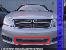 GTG 2011 - 2014 Dodge Avenger 1PC Polished Overlay Bumper Billet Grille Grill