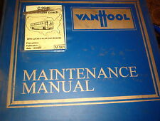 VANHOOL MAINTENANCE MANUAL C2045 COMMUTER COACH  10/2000   M3