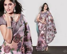 """Indian Designer Saree Wedding Party Wear New With Unstitched""""Blouse & Petticoat"""""""