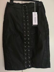 Guess black leather skirt size 8-10