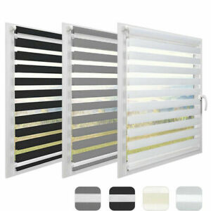Day and Night Zebra/Vision Window Roller Blinds Curtains 6 Sizes 150cm Drop