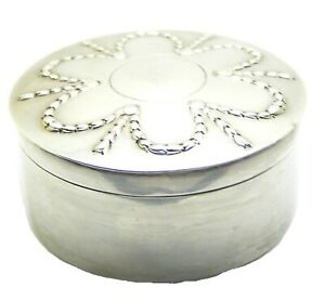 London 1803 Georgian silver spice box by Andrew Fogelberg from Spetchley Park