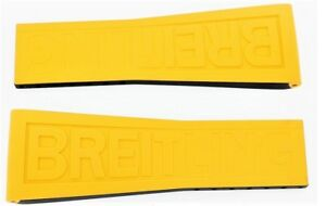 Breitling Yellow  Rubber Strap 246S Twin Pro 26mm-20mm Butique
