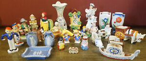 Occupied Japan Porcelain Figure Lof Of 29 Mini Plant Stands S&P Shakers Figures