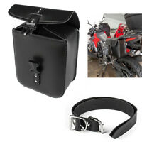 Universal Motorcycle Bag Saddle Box Storage Tool Pouch PU Leather Travel Luggage