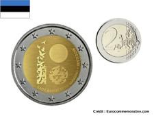 2 Euros Commémorative Estonie 2018 République UNC