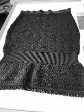 Christian Dior Boutique Black Knit Pencil Skirt Elastic Waist Band, F44/US 12