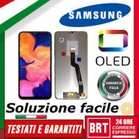 DISPLAY LCD+TOUCH SCREEN OLED=ORIGINALE PER SAMSUNG GALAXY A10 SM-A105FN SCHERMO