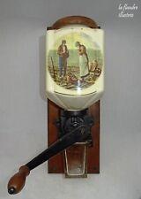 moulin a café mural en porcelaine AS -  l'angelus de MILLET - 1900