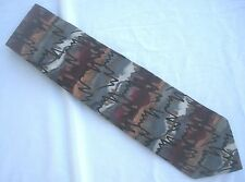 Grateful Dead Tie Synesthesia Second Set Wine Gray Blue 100% Silk Made in  USA