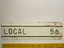 LICENSE PLATE Truck Tag TOPPER 1956 KANSAS Add-On Tab LOCAL 56 [Z289D21]