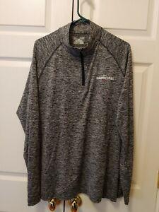 Men Under Armour Heathered Black Gray Sagamore Spirit 1/4 Zip Pullover Size XL